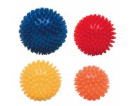 Igelball 4er-Set (orange, gelb, rot, blau)