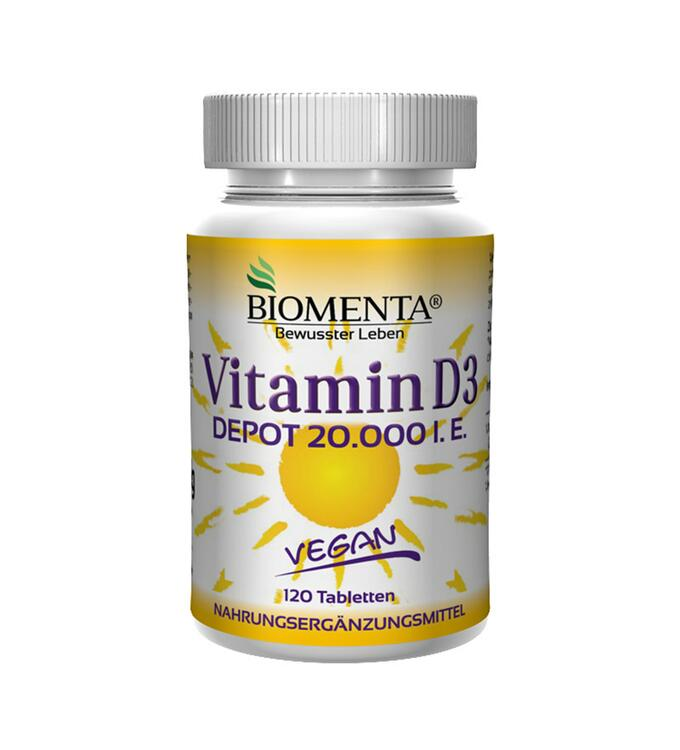 Biomenta Vitamin D3, 120 Tabletten