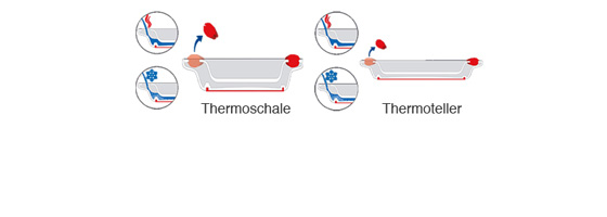 Ornamin Geschirr Thermotrick
