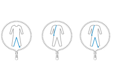 Reißverschlussvarianten bei Pflegeoveralls