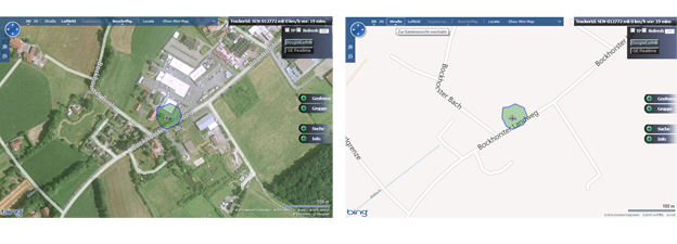 Geofence des GPS-Track SeniorPro