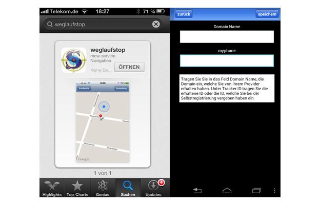 Anzeige Google Earth GPS-Track SeniorPro