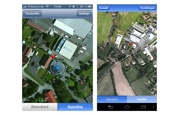 Anzeige E-Mail GPS-Track SeniorPro