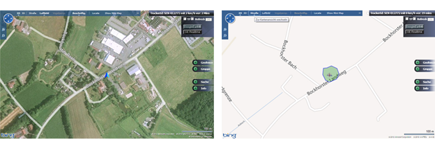 Anzeige mit Log-In GPS-Track SeniorPro