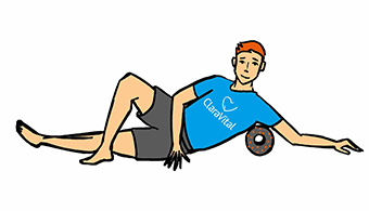 """Faszientraining seitlicher und unterer Rücken im Liegen"""" width="""