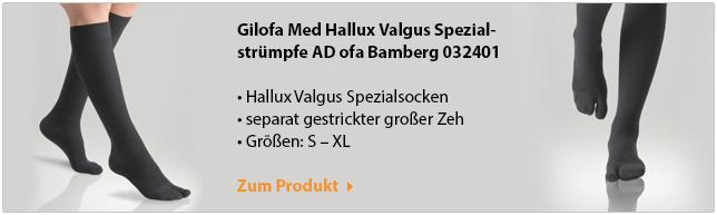"Hallux valgus Spezial-Strumpf Gilofa"" width="